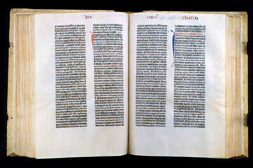 Prim livro impr Bíblia Guttenberg 1455