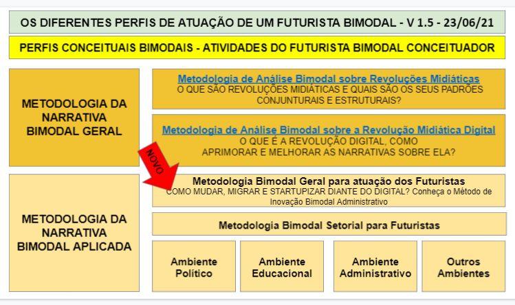 PERFIS CONCEITUAIS BIMODAIS - ATIVIDADES DO FUTURISTA BIMODAL CONCEITUADOR